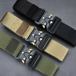 MEN Casual Military Tactical Army Adjustable Quick Release Belts $10.99