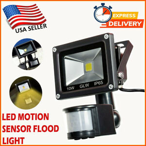 Motion Sensor Flood Light Outdoor Indoor Waterproof Security Safety LED Lights