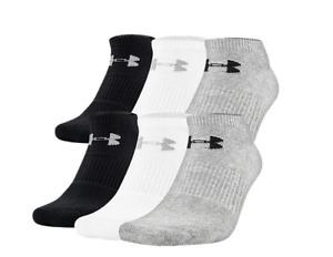 NEW Under Armour Socks Little Boys Charged 2.0 No Show Socks 6 Pair Shoe Sz 1 3 $14.95