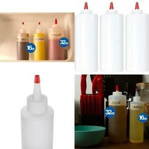 Plastic Squeeze Condiment Bottles - Perfect for Ketchup, BBQ, Sauces, Condiments