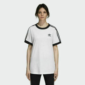 NWT Adidas Originals Women's 3 Stripes Tee White DH3188