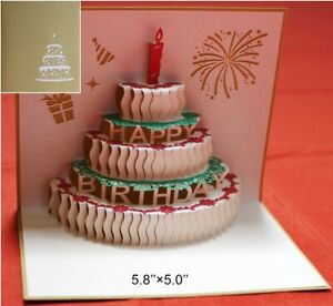 3D Pop Up Greeting Card for Birthday