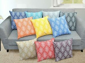 Trellis + Damask Pillow Cover Cushion Cover Pillow Cases 18 x 18, Set of 2,
