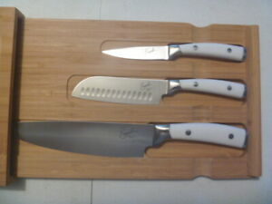 EMERIL BAMBOO BOARD/DRAWER AND CUTLERY SET