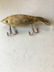 Old Vintage Antique Wooden Fishing Lure - Heddons Dowagiac *** RARE***