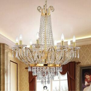Empire Ring Chandelier Crystal Light Fixture Circular Pendant Ceiling Lamp 28