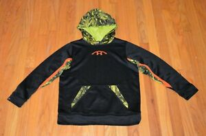 Under Armour Boy's NFL Combine Authentic Hoodie Black Camo Size Med $9.95
