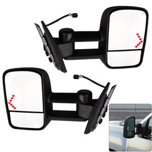 Pair Power LED Signal Towing Mirrors for 07 13 Chevy Silverado 1500 2500 2500HD $98.96