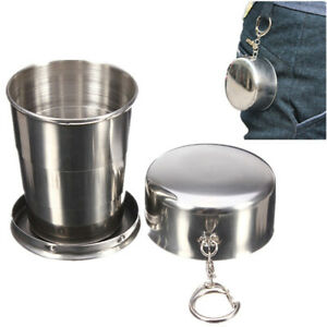 Outdoor Folding Travel Stainless Steel Portable Collapsible Cups Telescopic
