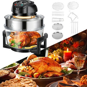 Extra Large 17Qt Family Air Fryer 1400W Healthy Cook Roast Timer