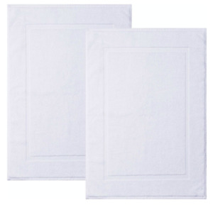 SPRINGFIELD LINEN 100%Cotton Bath Mats 2 Pack, Bathroom Rug, 22