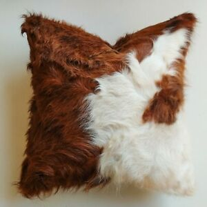 New COWHIDE Cushions Pillows brown and white 18