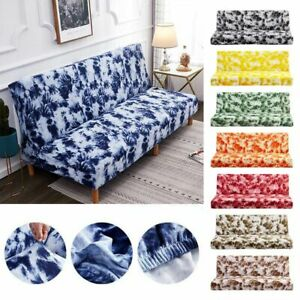 Stretch Sofa Bed Cover Folding Armless Elastic Futon Slipcovers Couch Covers