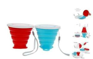 mochen Silicone Collapsible Travel Cup - Silicone Folding Camping Cup with Lids