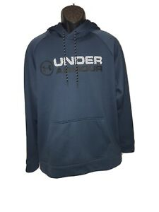 Mens Under Armour Hoodie Large Blue Same Day Shipping $44.95