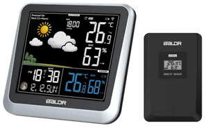 BALDR B336 Digital Color LCD Weather Station Indoor/Outdoor Temperature Humidity