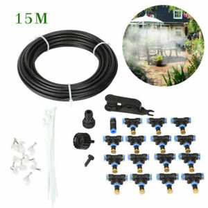 50FT Outdoor Patio Water Mister Mist Nozzles Misting Cooling System Fan Cooler