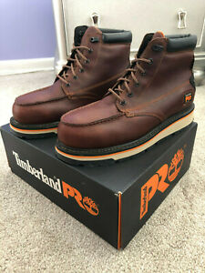 New Timberland PRO Gridworks Men#x27;s 6quot; Boots Size 13 Brown Alloy Toe