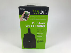 WiOn 50049 Outdoor Wi-Fi Wireless Plug-In Switch, Smartphone And Tablet