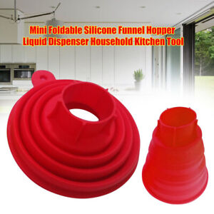 JP_ HB- Practical Silicone Gel Foldable Collapsible Style Funnel Hopper Kitche