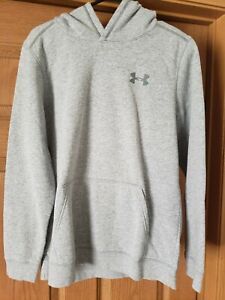 YOUTH XL GREY UNDER ARMOUR HOODIE GOOD CONDITION,, ,,, LOOK..... $14.99