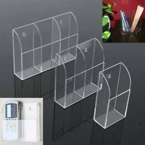 Acrylic TV Air Conditioner Remote Control Holder Case Wall Mount Storage Box US