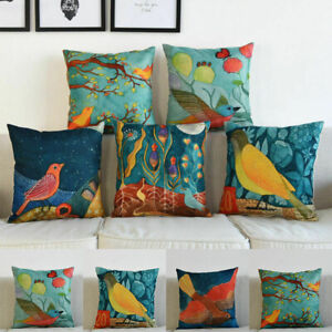 Sofa Pattern Home Waist Pillow Cover Cotton Case Cushion Linen Throw Decor Brid $3.15
