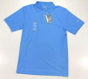 Nike Victory Tour Performance Dri Fit Light Blue Golf Polo Short Sleeve Shirt $19.99