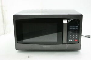 SEE NOTES Toshiba EM925A5A-BS Microwave Oven ECO Mod LED Lighting 900W