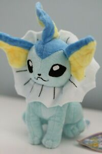 Pokemon Vaporeon 8 Plush Toy Stuffed Animal Soft Figure Doll Eeveelution