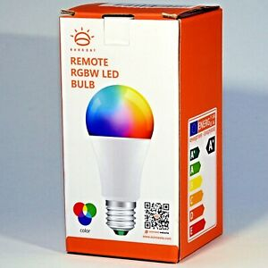 Sunrest Remote RGBW 10W Dimmable LED 120 Color E26 Bulb w/ Remote
