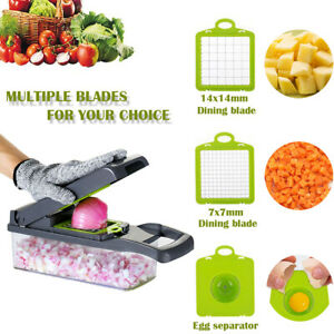 Artcome Vegetable Chopper Slicer Onion Dicer with Colander Basket
