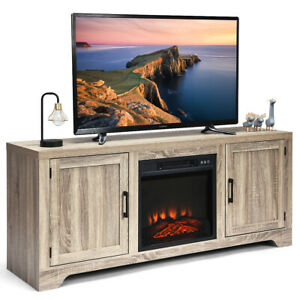 TV Stand Entertainment Center Console Media Display Storage w 2 Doors for 65quot; TV $149.95