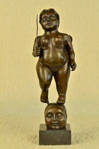 Fat Contortionist Bronze Abstract Sculpture by Fernando Botero Lost Wax Method $199.00