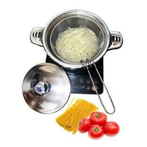 Stainless Steel Tri-Ply Base Pasta Cooker,Multipots With Draining Steamer Basket