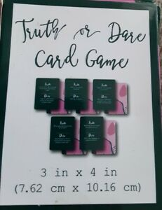 U PICK Truth or Dare CARD Game or Drinking Card Game Design 40 Cards NEW ADULT