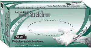Innovative Exam Stretch Vinyl Gloves DermAssist XLarge NonSterile Smooth Ivory