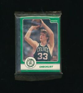 1984 Star Co Larry Bird Set 18 Card Original Sealed Bag Set gradable celtics