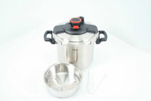T-fal P45009 Clipso Stainless Steel 12-PSI Pressure Cooker 8-Quart 7114000494