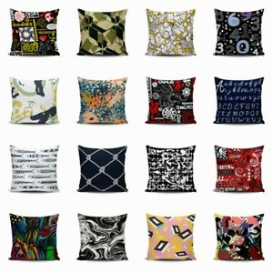 Pillow Case Home Waist Cartoon Throw Decor Linen Graffiti Cushion Cover $2.96