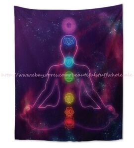 chakras meditation wall hanging tapestry nautical home decor