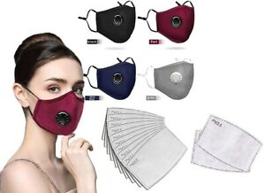 Reusable Cotton Face Masks with Valve