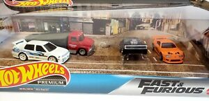 Hot Wheels Premium Fast&Furious Set Real Riders Mattel Box,Ships Fast Same Day