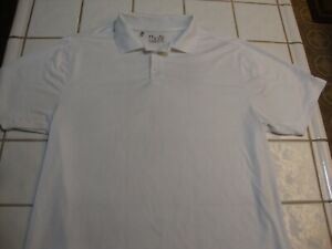 Under Armour Golf Polo Shirt White Loose Short Sleeve Poly Spandex Mens Size XL $16.99