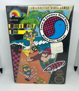 New Sealed Town & Country Surf Designs Nintendo NES Game T&C Black Seal