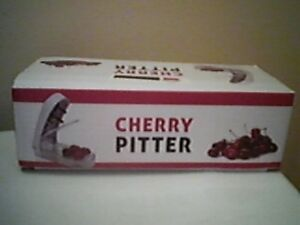 Cherry Pitter ~ 4 cherries at once ~ spring loaded mechanism ~ Unused