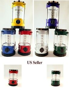 12 LED Portable Camping Camp Lantern Light Lamp w Compass Select Your Color NEW $9.89