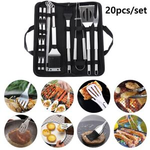 Grill Barbecue Stainless Steel Cooking Kit Utensil Accessories BBQ Tool Set