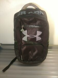 Used Under Armour Hustle Storm Backpack Black Neon Green Style 1241786 2013 $60.00