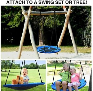 40#x27;#x27; Kids Outdoor Home Funny Sensory Tree Swing 900D Oxford Rope Nest web 700LBS